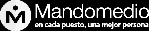Mandomedio Perú | Logo Blanco