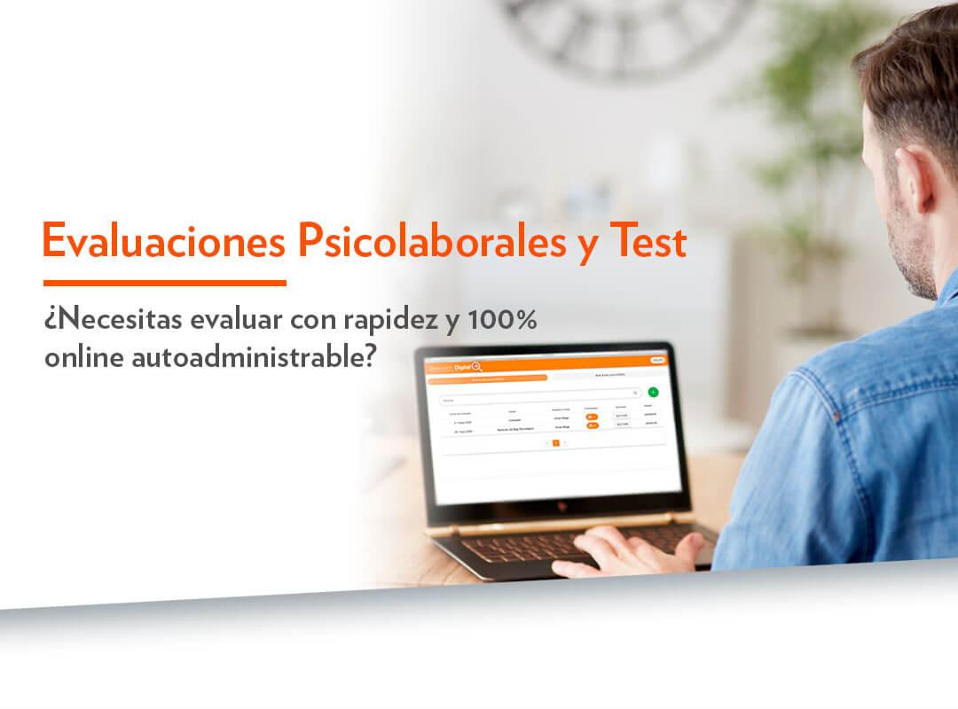 Evaluaciones psicolaborales 100& online autoadministrable